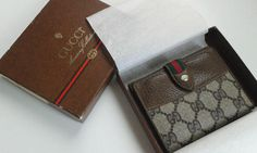 WEEKEND SALE Gucci vintage brown GG monogram wallet by ALILALIA