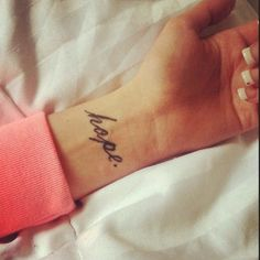 Wrist Hope Tattoo