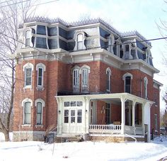 the Bain House - second empire - Morrisburg, ON