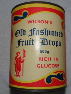 Old Fashioned Fruit Drops. I can still remember the smell and all the icing sugar in the packet inside.