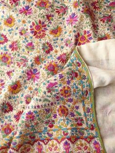 All-Over Hand Embroidered One Piece Pashmina Shawl
