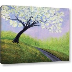ArtWall Herb Dickinson Road to Cobbly Nob Gallery-wrapped Canvas, Size: 14 x 18, Purple