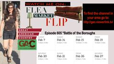 """Did you miss the premiere? Here are a few more show airings! I, Catherine Taormina, am a contestant on the show Flea Market Flip! The episode is called """"Battle of the Boroughs""""! Please tune in and watch! AND please feel free to share this invite! To find the GAC channel in your area go to: http://gac.viewerlink.tv/ and type in your area code and it will pull up the service providers!"""