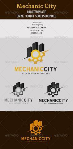 Mechanic City Logo Template Mechanic/Realstate/Gear/Industry related logo design. Very organized and customizable PSD file.