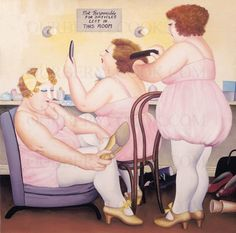 Our Beryl Cook : Dressing Room. Beryl Cook, Plus Size Art, Fat Art, Fat Women, Curvy Women, English Artists, Painting Gallery, Hens Night, Gal Pal