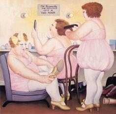 Paintings Gallery | Our Beryl Cook : Dressing Room.