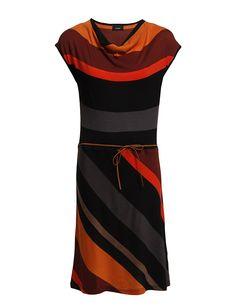 Striped stretch knit dress