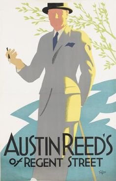 By Tom Purvis (1888-1959), ca 1926, Austin Reed's of Regent Street. (British)