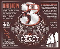 Beer bottle label –Schooner Exact BrewingCompany