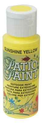 For my Pinterest flower pot and garden decor projects!  Patio Paint is a permanent, weather resistant, acrylic paint for outdoor decorating. No sealer is necessary. It can be used on concrete, wood, and terra cotta. formulated for water resistance and changing temperatures. Add accents to bird feeders, terra cotta pots, mailboxes and other outdoor accessories with Patio Paint. You can use it for outdoor stenciling.    Patio Paint is available at Michaels Stores in a wide va