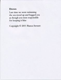 """Drown"" by Bianca Stewart (2011)      Via (observando)"