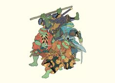 """""""The Four Ronin"""" - Threadless.com - Best t-shirts in the world"""