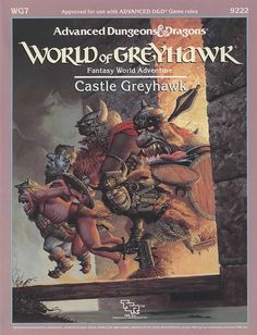 WG7 Castle Greyhawk (1e) - Greyhawk | Book cover and interior art for Advanced Dungeons and Dragons 1.0 - Advanced Dungeons & Dragons, D&D, DND, AD&D, ADND, 1st Edition, 1st Ed., 1.0, 1E, OSRIC, OSR, fantasy, Roleplaying Game, Role Playing Game, RPG, Wizards of the Coast, WotC, TSR Inc. | Create your own roleplaying game books w/ RPG Bard: www.rpgbard.com | Not Trusty Sword art: click artwork for source