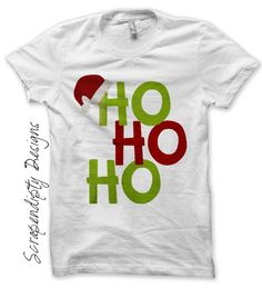 Santa+Iron+on+Transfer++Iron+on+Ho+Ho+Ho+by+ScrapendipityDesigns,+$2.50