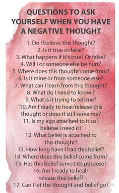 Negative Thought? Ask Yourself This #Various #Musely #Tip