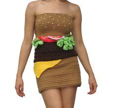 Hamburger Dress Front