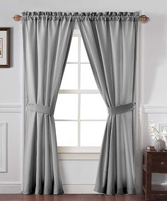 Look what I found on #zulily! Gray Carmen Curtain Panel - Set of Two by Victoria Classics #zulilyfinds