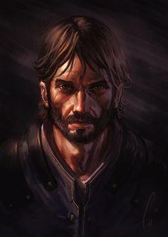Jaak, truths and lies by charro-art.deviantart.com on @deviantART graham? an old, grizzled warrior