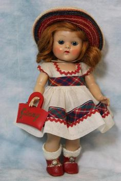 "8"" Red Haired Vogue Ginny doll painted lashes, ""June""  ""Tiny Miss"" series, 1953"