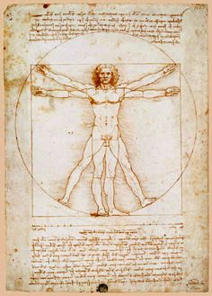 A great poster of The Vitruvian Man by Leonardo da Vinci - the famous illustration from the Italian Renaissance! Need Poster Mounts.