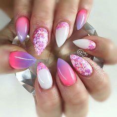 "@leslies.gelnails ""Tart at Hart"" and ""Neonz Pink"" with ""Popsicle"" #nails#kelowna#gelnails#sculptedgel#lesliesgelnails#naildesign#pretty#cute#nailart#kelownagelnails#sculptedgelnails#nailsoftheday#kelownanailtech#purple#purplenails#pink#pinknails#glitter#glitternails#glitterheavenaustralia#stilettonails#stiletto#ombre#ombrenails#pinkombre#purpleombre#encapsulatedglitter #instarepost20"
