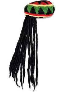 Private Island Party  - Rasta Kufi with Dreadlocks, $5.85- $12.95   Boogie on Reggae man, here's a quick easy and fun way to turn into a true Dread-head.