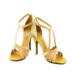 Customizable Women's Dance Shoes Latin/Salsa Satin Customized Heel Black/Blue/Yellow/Pink/Purple/Red/White/Fuchsia 2016 - $26.24
