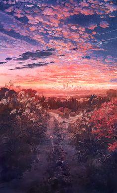 Digital landscape - by unknown artist