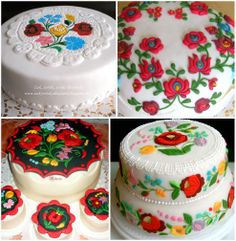 hungarian folk pattern cakes