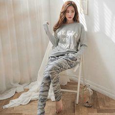 2017 frühling Herbst Winter Damen Pyjama Stellt O-ausschnitt Langarm Frauen Nachtwäsche Pyjamas Mädchen Frau Pyjama Femme Plus Größe
