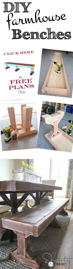 Beside dining tables bench, we will also get diy kitchen table and dining room ideas wood design ideas from the photo. what do you think? by: shanty-2-chic.com