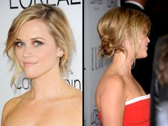Try Reese Witherspoon's easy updo tonight! Her hairstylist, Adir Abergel, spills all. #hairtips #hairtutorial