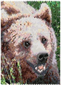 Brown Bear 2914 Smaller Peyote Bead Pattern PDF