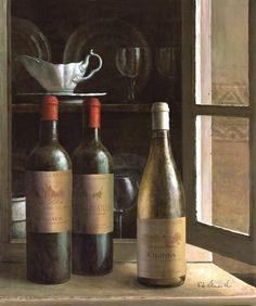 Obraz Kredens i wino II - DECORTIS.COM