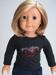 Trendy Dolls - Horse Long Sleeve Tee for 18 inch American Girl Dolls, $7.00 (http://www.mytrendydoll.com/18-inch-doll-separates/horse-long-sleeve-tee-for-18-inch-american-girl-dolls/)