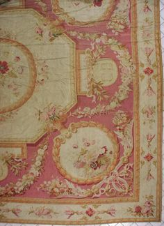 French Aubusson design rug, perfect for a girls bedroom