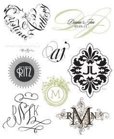 Wedding Monograms -  http://www.etsy.com/listing/102220996/calligraphy-heart-monogram-hand-lettered  | http://www.etsy.com/listing/105223571/modern-classy-wedding-monogram-logo | http://www.bauerhaus.com/ | http://www.etsy.com/shop/weddingmonograms | http://www.cecinewyork.com/ | http://www.etsy.com/listing/92143926/calligraphy-monogramcustom-digital | http://www.weddingchicks.com/freebies/custom-monograms/ | http://www.etsy.com/listing/76509949/custom-digital-wedding-monogram-wedding