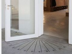 Awesome classroom doorway idea! Use the floor to mark degree marks! Now your students can't forget their angles! From Getting Smart