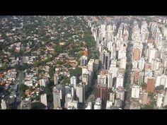 Vista aérea São Paulo - Aterrissagem Aeroporto Congonhas