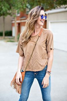 Flare Jeans + Round Sunglasses // VeiledFree