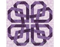 Pretzel Heart quilt pattern, paper pieced quilt patterns, instant download PDF pattern, celtic love knot, celtic knot designs