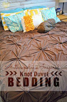 Anthropologie Inspired Knot Bedding Duvet {Tutorial}