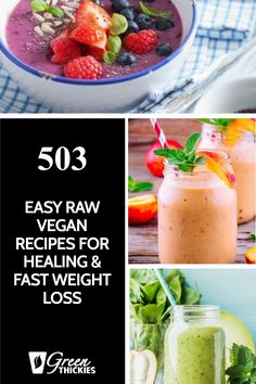 These raw vegan recipes are simple and quick to make, delicious and will speed your healing and help you shed excess weight fast. Healthy Blender Recipes, Raw Vegan Recipes, Vegan Meals, Whole Food Recipes, Plant Based Vegan Diet, Healthy Carbs, Meal Replacement Shakes, Fast Weight Loss, Clean Eating Recipes