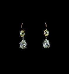 OLD MINE DIAMONDS EARRINGS  ORECCHINI DIAMANTI COLUCCI DIAMONDS
