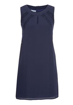 chiffon shift dress with lace (original price, $39) available at #Maurices