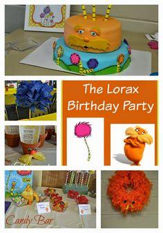 A Lorax Birthday. The Lorax. Lorax birthday party ideas. Lorax Cakes. Lorax birthday cakes. Lorax Truffula Trees. Planning a Lorax Party.