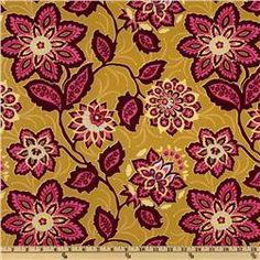 Joel Dewberry Heirloom Ornate Floral Gold. LOVE IT $12.98/yard