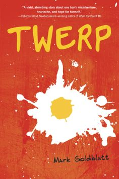 NetGalley Catalog Twerp by Mark Goldblatt; Random House Children's; Pub date May 28, 2013.  Julian  gets suspended from school. He is assigned to keep a journal and write about the incident that got him suspended. This is his account of life in sixth grade--blowing up homemade fireworks, writing a love letter for his best friend (with disastrous results), and worrying whether he's still the fastest kid in school. Five Star Story great for kids.