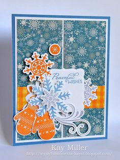 My Joyful Moments blog- Merry Monday and Muse Challenges. Papertrey Ink and Stampin' Up stamps.