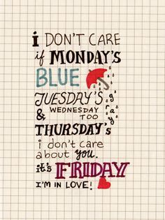 friday I am in love - the cure